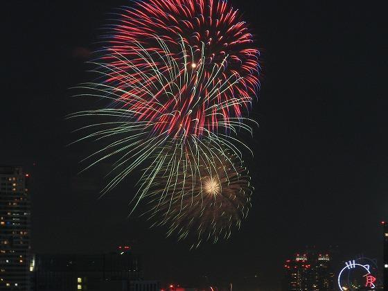 東京湾大華火祭りの花火写真
