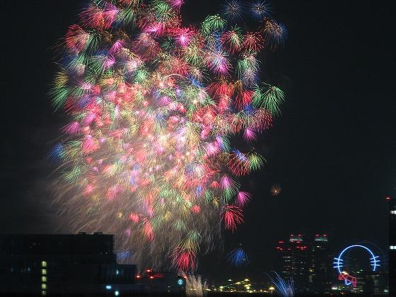 東京湾大華火祭りの花火写真2